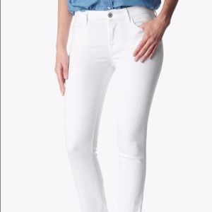 7 for all mankind white bootcut skinny jeans 24